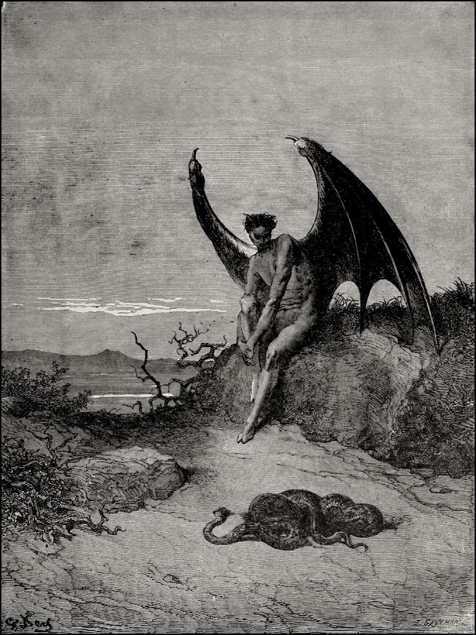 the use of the serpent by john milton to represent the evil of satan