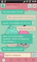 Screenshot of GO SMS Pro Sweet Cupcake Theme