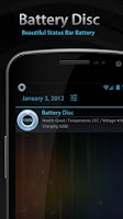 Screenshot of Beautiful Battery Disc White
