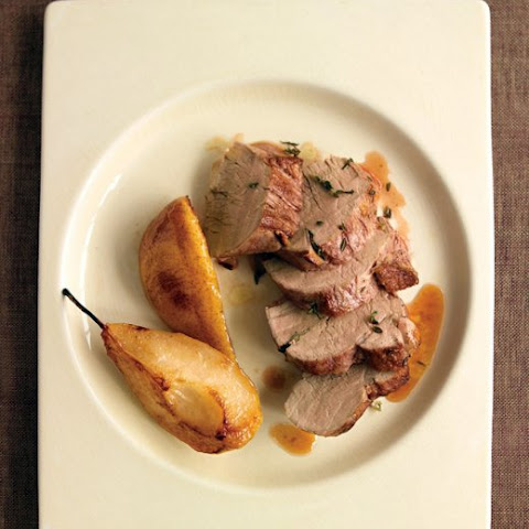 Herb-Roasted Pork Tenderloin with Pears