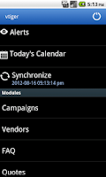 Screenshot of Vtiger CRM Mobile