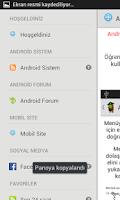 Screenshot of Android Sistem