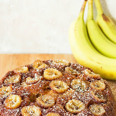 Caramelized Banana Skillet Cake