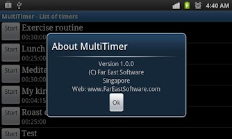 Screenshot of Multi Kitchen Timer (Lite)