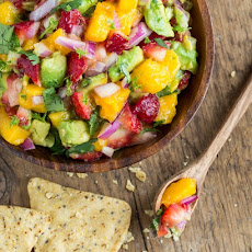 Glowing Strawberry-Mango Guacamole