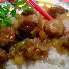 Sweet-Sour Meatballs for the Crockette