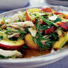 Oriental Chicken & Peach Salad