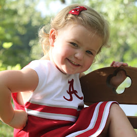 Little Bama Cheer Leader by Amanda Lassiter - Babies & Children Child Portraits