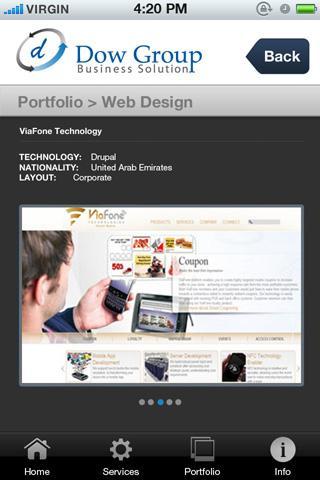 web design dubai - Dow Group