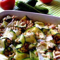 Simple and Healthy Zucchini Salad With Pine Nuts