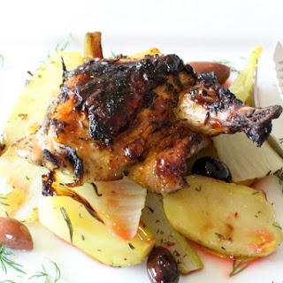 Guinea Fowl with Potatoes, Fennel and Blood Orange, Recipe from Jamie Oliver