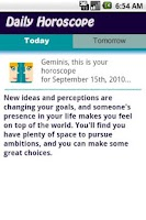 Screenshot of Gemini Daily Horoscope