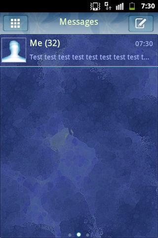 GO短信主題霓虹燈藍 GO SMS Theme Neon