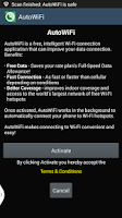 Screenshot of Cricket's AutoWiFi