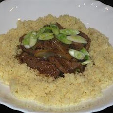 Mongolian Lamb Casserole With Couscous