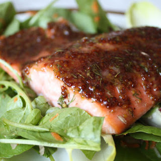 Cider-Glazed Salmon with Watercress, Endive and Red Grape Salad