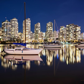 Canada - Vancouver by Jimal Essa - City,  Street & Park  Night