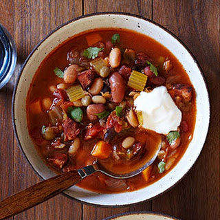 Mexican 16-Bean Tomato and Chorizo Stew