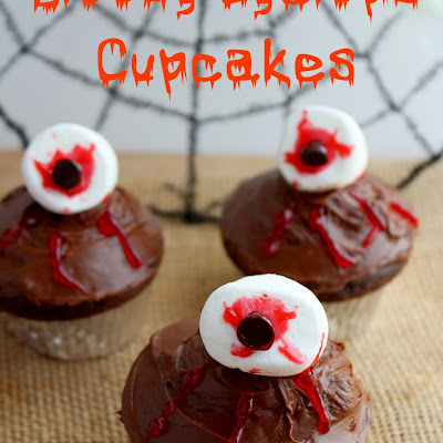 Bloody Cyclops Cupcakes