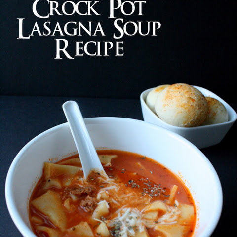 Crock Pot Lasagna Soup Recipe and Other Football Party Ideas