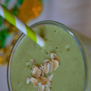 Green Peach Breakfast Smoothie