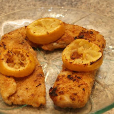 Italian Breadcrumb-Crusted Tilapia W/Lemon
