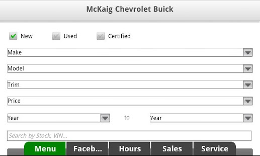 McKaig Chevrolet Buick - screenshot