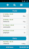 Screenshot of Grocery List - QuickGrocery