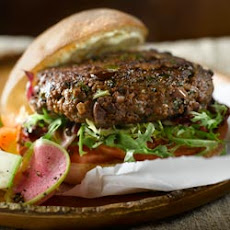 The Ultimate All-Bran Burger and Farmers Market Crudites Salad