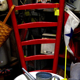 Little Red Chair by Kaye Petersen - Artistic Objects Furniture ( chair, kitchen, furniture, antiques, Chair, Chairs, Sitting )