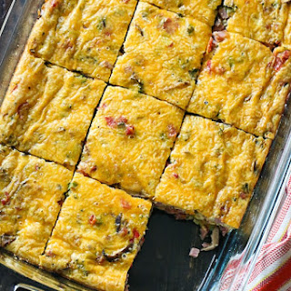 Veggie Ham Egg and Cheese Bake