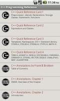 Screenshot of C++ Programming Reference FREE