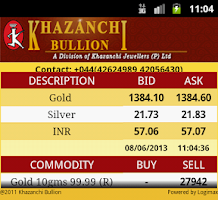 Screenshot of Khazanchi Bullion