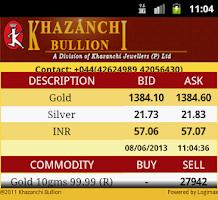 Screenshot of Khazanchi Bullion