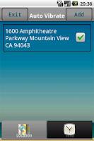 Screenshot of Auto Vibrate (Location & Time)