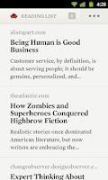 Screenshot of Readability
