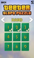 Screenshot of Teeter Slope Puzzle