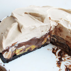 Chocolate Malt Banana Cream Pie