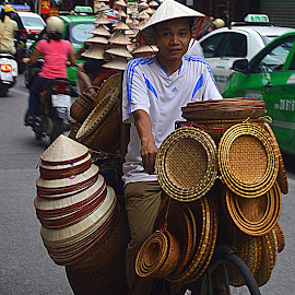 On the street of Hanoi, Vietnam. by Andrew Piekut - City,  Street & Park  Street Scenes