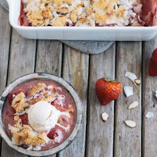 Strawberry Rhubarb Coconut Crisp Recipe Gluten Free