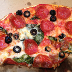 Mostly gone! Pepperoni, basil, & black olive!