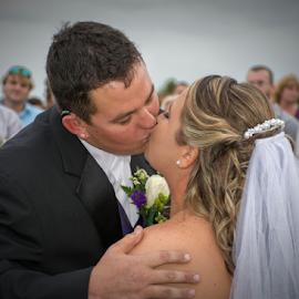 The groom may kiss the bride by Joe Saladino - Wedding Bride & Groom ( kiss, wedding, bride, groom, country )