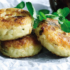 Wild Mushroom And Mozzarella Risotto Cakes