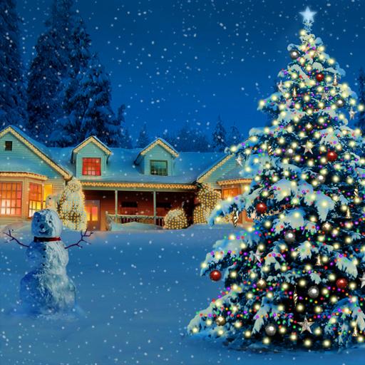 Christmas Tree And Snowman LOGO-APP點子