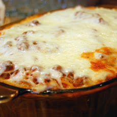 Quick and Easy Thrown Together Baked Spaghetti Casserole