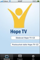 Screenshot of HopeTV CZ