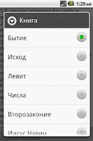 Screenshot of Библия Синодальный перевод