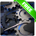 Mechanical gear 3D free lwp icon