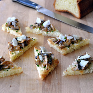 Sauteed Mushrooms on Buttered Chive Toast