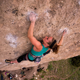 Ten Sleep 7 by Climb Globe - Sports & Fitness Climbing ( ten sleep, climbing, rock climbing, female, wyoming )
